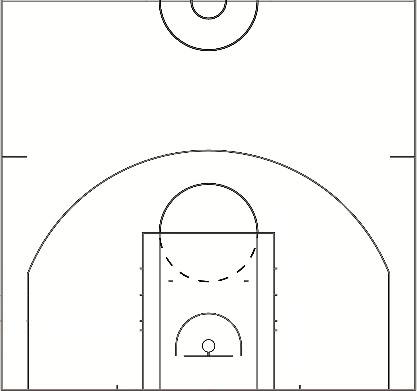 How to create nba shot charts in r the data game for What are the dimensions of a half court basketball court